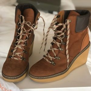 See by Chloe hiking style wedge boots